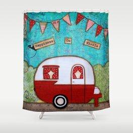 Vintage Camper Red Shower Curtain