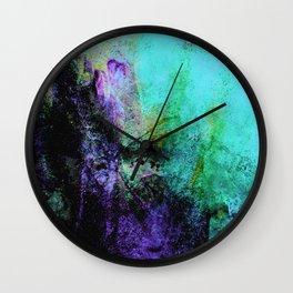 STORMY PURPLE VS BLACK Wall Clock