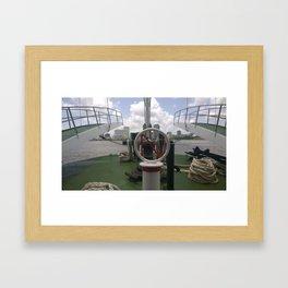 Bow of the Boat Framed Art Print