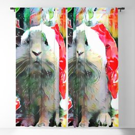 Santa Bunny is Watching You Blackout Curtain