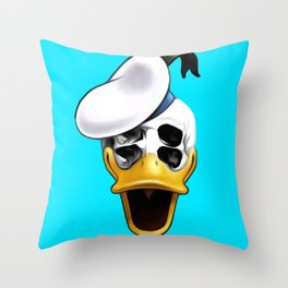 Mr. Donald Skull Throw Pillow
