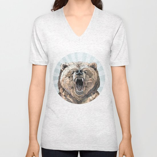 Grizzly Unisex V-Neck