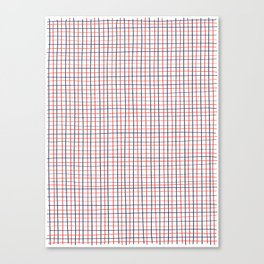 French Grid Canvas Print