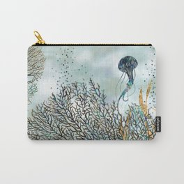 Abalone Fan Coral and Pearl Carry-All Pouch
