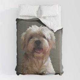 Shih tzu Low Poly Comforters