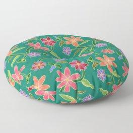 Emerald Batik Floor Pillow