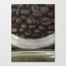 Coffee beans in glass Jar - fine art - still life - interior decoration, for bar & coffeehouse,  #1 Canvas Print
