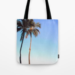 Florida Palm Trees and Blue Sky Tote Bag