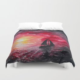 Sail Into the Sunset Duvet Cover