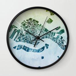 Venice Italy City Map Wall Clock
