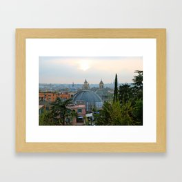Roman Sunset Framed Art Print