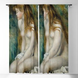 "Pierre-Auguste Renoir ""Young girl bathing"" Blackout Curtain"
