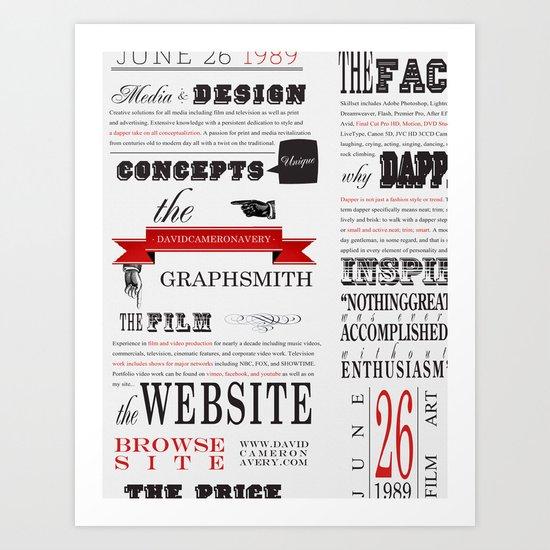 Graphsmith Art Print