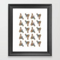 MonkeyDonkey. Framed Art Print