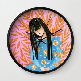 Clarissa. Beautiful woman collection Wall Clock