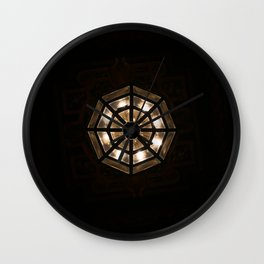 Shine Bright Dark Night - Geometry of Light Wall Clock
