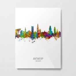 Antwerp Belgium Skyline Metal Print