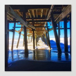 'Under The Pier' Canvas Print