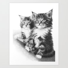 Double Dose of Cuteness Art Print