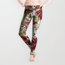 Poinsettia Flowers Leggings