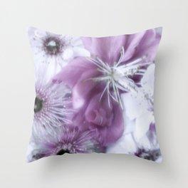 Flowers Purple Throw Pillow