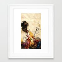 howl Framed Art Prints featuring Howl by Lucy Wood - White Rabbit Says