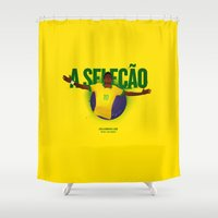 brasil Shower Curtains featuring Brasil by Skiller Moves