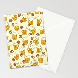 Beer and Pretzels Stationery Cards