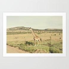 crossing::kenya Art Print