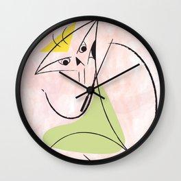 P-Katzo #2 pink back Wall Clock