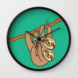 Cute Sloths!! Wall Clock