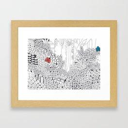 Drawing Blanks Framed Art Print