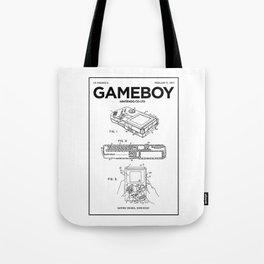 Gameboy Poster • Gamer Prints • Nintendo Patent Printable • Gift For Gamer • Games Gift • Boys Decor Tote Bag