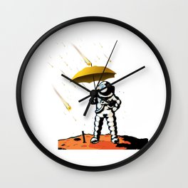 Aeronautic Astronaut Meteor Shower Meteorites Galaxy Space Nerd Wall Clock