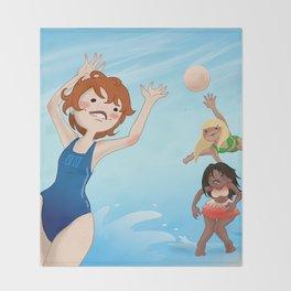 Beach Volley Throw Blanket