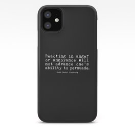Ruth Bader Ginsburg - Reacting in anger or annoyance iPhone Case
