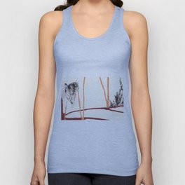 Eye pencil landscape Unisex Tank Top