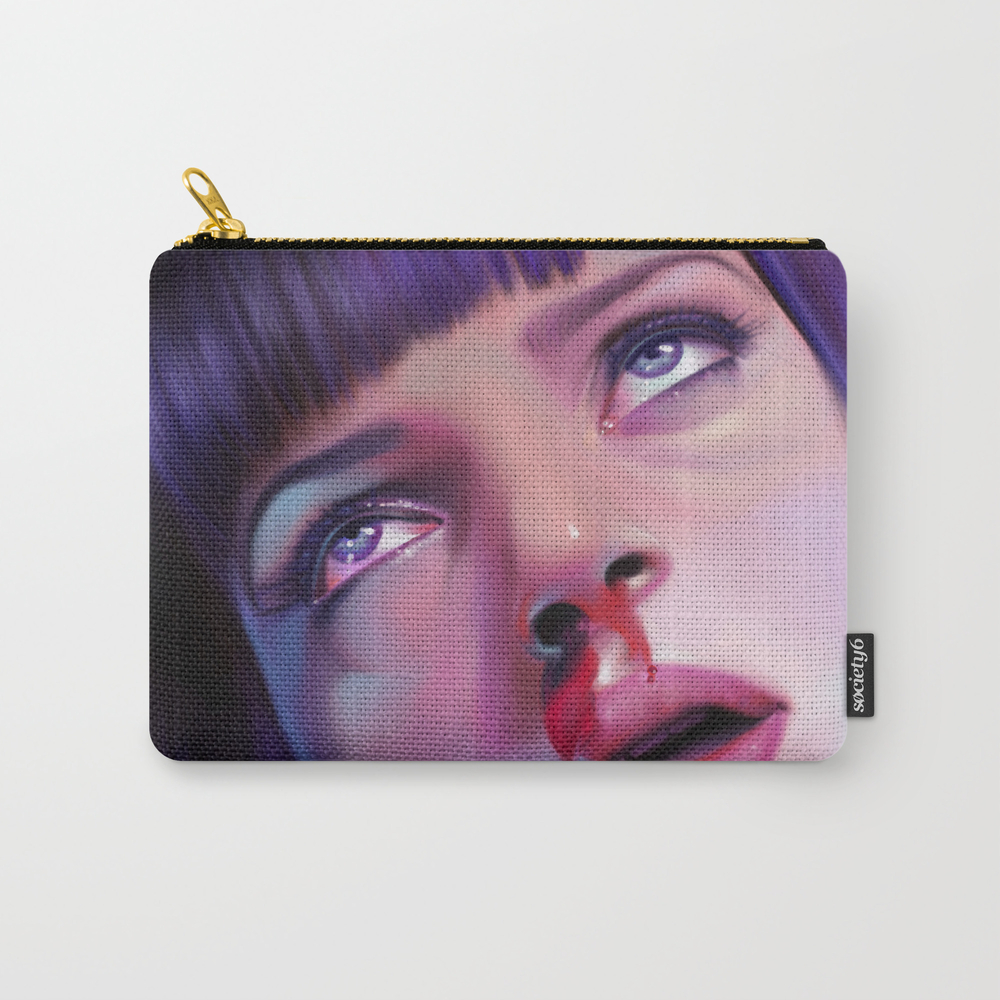 Mia Wallace - Pulp Fiction Carry-all Pouch by Carolinevermeir CAP8478550