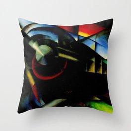 Speeding Streamliner Train Railroad Portrait by Ivo Pannaggi Throw Pillow