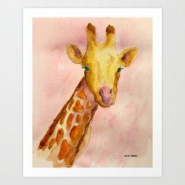 The Giraffe Art Print