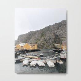 Nusfjord Yellow / Norway Metal Print