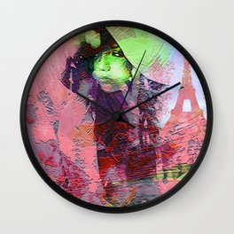 """"""" Add two letters in Paris: it is the paradise """" Wall Clock"""