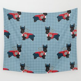 Scottish Terrier dog breed custom pet portrait funny dog pattern dog gifts all breeds Wall Tapestry
