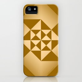 Abstract Triangles - Desert iPhone Case