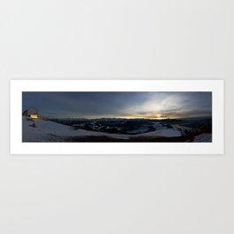 Rigi Sundown Art Print