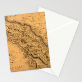 Map Of Nicaragua 1851 Stationery Cards