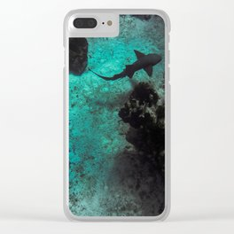 Reef shark Clear iPhone Case