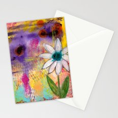 Single Flower Abstract Stationery Cards
