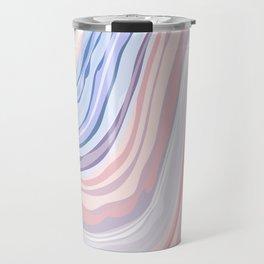 pastel pattern marble texture metal Travel Mug