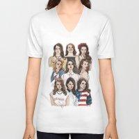 wallpaper V-neck T-shirts featuring LDR Wallpaper by Daniel Cash
